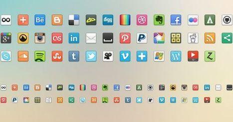 41 Social Media Icons, colección gratuita de bonitos iconos de redes sociales | Recull diari | Scoop.it