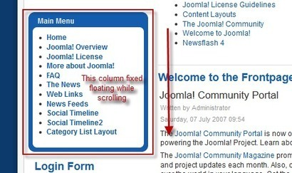 Fixed Float Scrolling - Anything Scroll Spy Plugin for Joomla | Joomla | Scoop.it