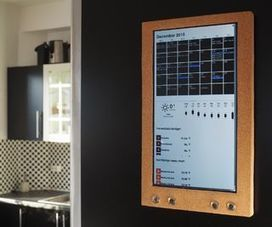 Raspberry Pi: Wall Mounted Calender and Notification Center   Raspberry Pi   Scoop.it