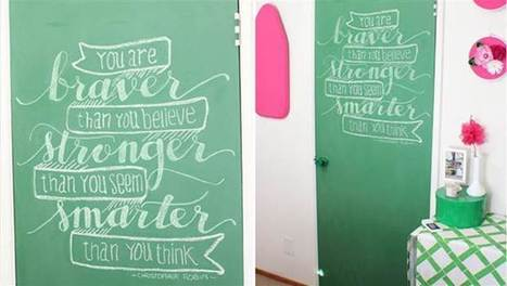 8 ways to use chalkboard paint at home | crea | Scoop.it