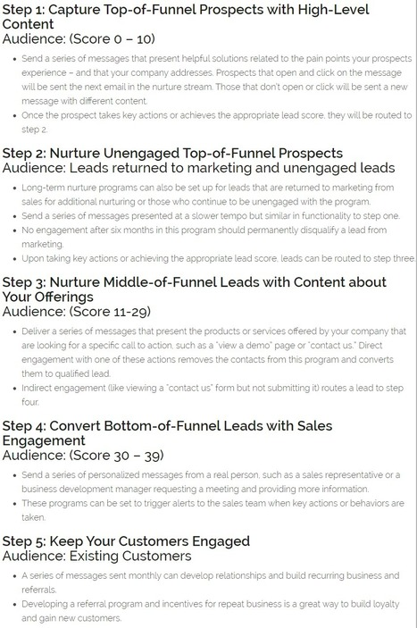 Lead Nurturing Basics: How to Nurture the B2B Buyer's Journey in 5 Steps - Act-On | Smarter Business | Scoop.it