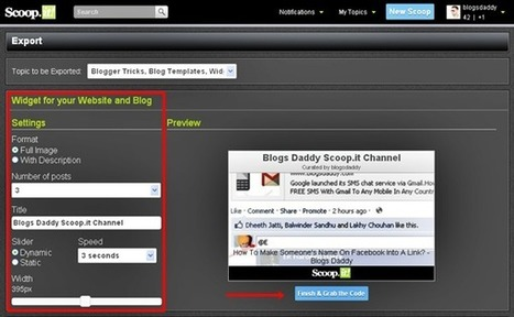 How To Embed The Scoop.it Widget To Your Blog - Blogs Daddy | air ambulance | Scoop.it