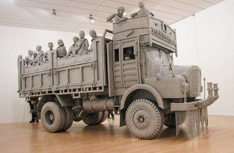 Truck Sculpture with Stainless Steel Balls | Landart, art environnemental | Scoop.it