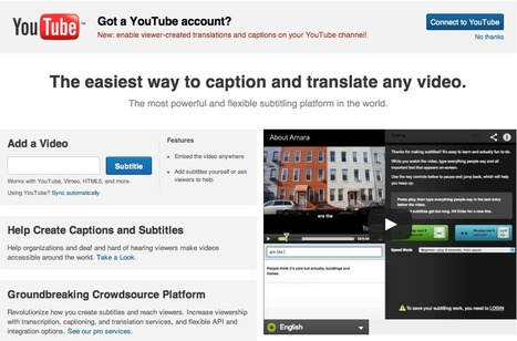Amara - Caption, translate, subtitle and transcribe video. | Better teaching, more learning | Scoop.it