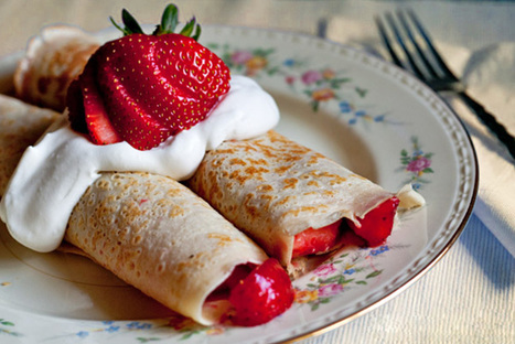 Strawberry crepes recipe | Foods and recipes | Scoop.it
