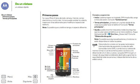 Manual de usuario en español del Motorola Moto G | okMotorola | motorola | Scoop.it