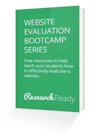 Teach Your Students How to Effectively Evaluate Websites! | EasyBib | Scoop.it