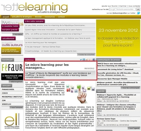 Management formation micro-learning | E learning,formation à distance | Scoop.it