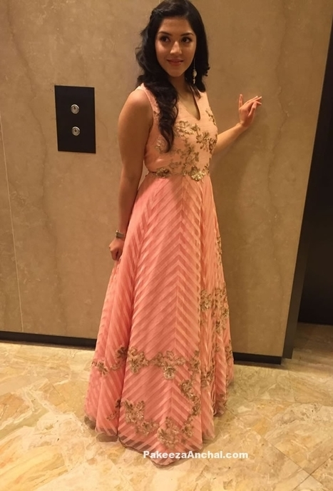 Mehreen Pirzada in a Peach Gown by Neeta Lulla | Indian Fashion Updates | Scoop.it
