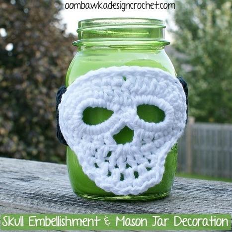Halloween Embellishment - Skull Oombawka Design Crochet | Free Crochet Patterns | Scoop.it