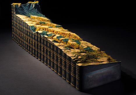"Bookmarking Book Art - Guy Laramée's ""Adieu"" to the Encyclopedia Britannica   Books On Books   Scoop.it"