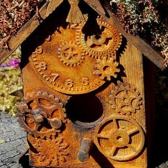 Little rusted bird house | Upcycled Garden Style | Scoop.it