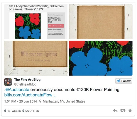 Auctionata erroneously documents €120K Andy Warhol Flower Painting | Fine Art News | Scoop.it