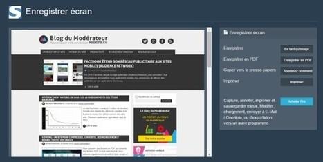 Comment faire une capture d'écran d'une page web en entier (screenshot) ? - Blog du Modérateur | Orangeade | Scoop.it