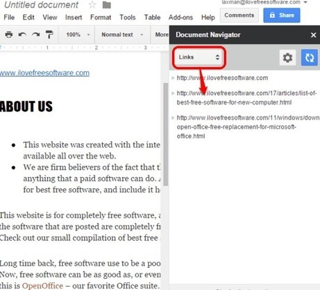 Document Navigator Add-on for Google Docs | Time to Learn | Scoop.it