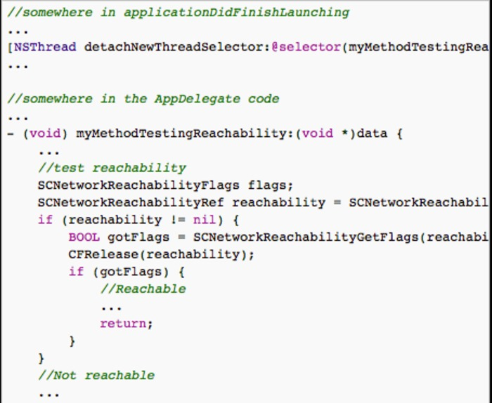 Don't perform network reachability tests in applicationDidFinishLaunching: | iPhone and iPad development | Scoop.it
