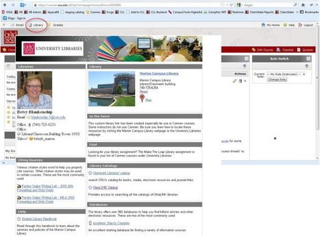Embedding Guides Where Students Learn: Do Design Choices and Librarian Behavior Make a Difference?   Nuevos servicios bibliotecarios, nuevas colecciones, nuevas descripciones   Scoop.it