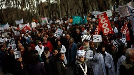 Spanish medical workers go on strike to protest govt. healthcare policy | Computers In The Medical Office | Scoop.it