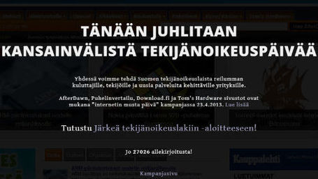 Finnish Websites Go Dark to Support a Fair Copyright Law - TorrentFreak | How to Grow Your Business Online | Scoop.it