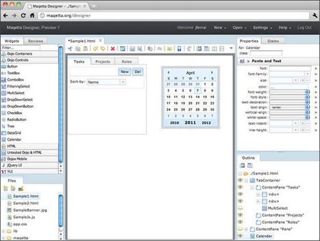 Logiciel gratuit Maqetta HTML5 Editeur WYSIWYG création HTML5   Time to Learn   Scoop.it