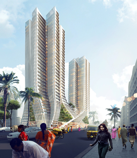 India Art n Design inditerrain: Grove Towers, Mumbai | Architecture and Sculptures | Scoop.it