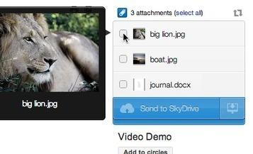 Access to your SkyDrive, even from Gmail : Attachments.me   Time to Learn   Scoop.it