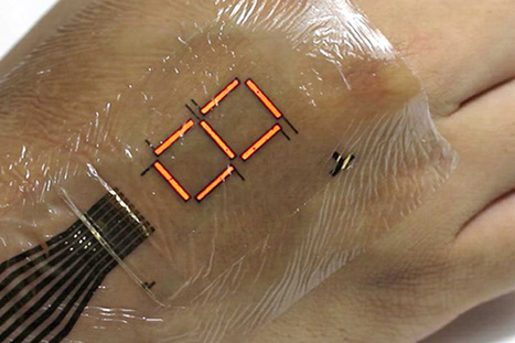 Extra-thin LEDs put a screen on your skin   IoT Electronics News   Scoop.it