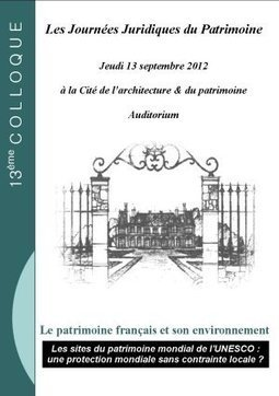 Journées Juridiques du Patrimoine : Le Retour ! | L'observateur du patrimoine | Scoop.it
