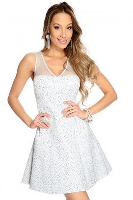 Silver Sequins Chevron Strapless Sexy Holiday Dress   The Season's Hottest Styles from Pink Basis   Scoop.it
