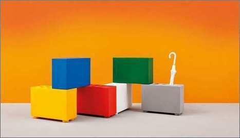 Paragüero de diseño moderno Brick de Pedrali.   Mil ideas de Decoración   Accesorios decoración   Scoop.it