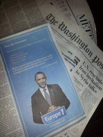 Europe 1 fait sa pub aux USA à destination d'Obama | Radioscope | Scoop.it