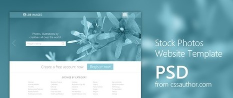 Stock Photos Website Template PSD for Free Download - Freebie No: 89 | Website Design Template PSD | Scoop.it