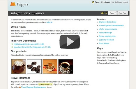 Papyrs - Easy Document Management & Intranet Software | Webtools für den Unterricht | Scoop.it