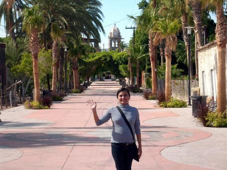 Norma in front of the mission in Loreto | Baja California | Scoop.it