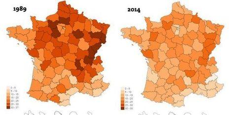 Visualisez vingt-cinq ans de désindustrialisation dans les départements français - Le Monde | CAPLP lettres histoire : ressources pour les questions au concours | Scoop.it