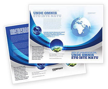 Blue Globe Brochure Template | Brochure Templates | Scoop.it
