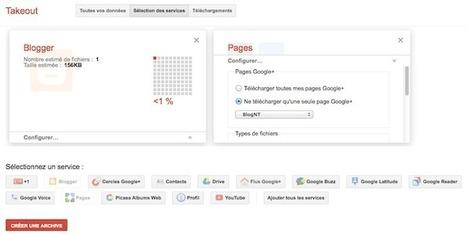Google vous permet dorénavant de télécharger vos blogs Blogger et vos Pages Google+ | cpnum | Scoop.it