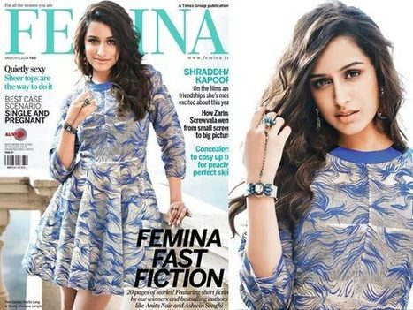 Shraddha Kapoor In Blue Again On Cover Of Femina | Fashion lady | Scoop.it