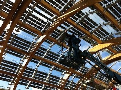Zoom sur la serre photovoltaïque à énergie positive du jardin Bich à Clichy-la-Garenne : 13-01-2014 - Batiweb.com | Entreprises et développement durable | Scoop.it