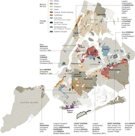 Map of New York City's ethnic neighborhoods - NYTimes.com | AP Human Geography Digital Knowledge Source | Scoop.it
