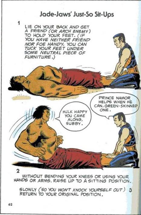 Exercices physiques avec les super-héros de Marvel | Le Blog du Kitsch | Forme physique 2 | Scoop.it