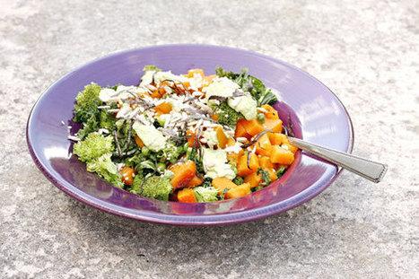 Cleansing steamed veggie bowl, with ginger-mint-tahini dressing | Vegan Food | Scoop.it
