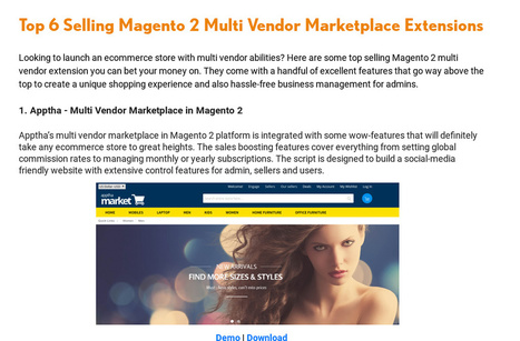Looking to launch an magento 2 marketplace ecommerce store with multi vendor abilities? Lets have a look on this.   Wordpress, Magento & Joomla Plugins Download   Scoop.it