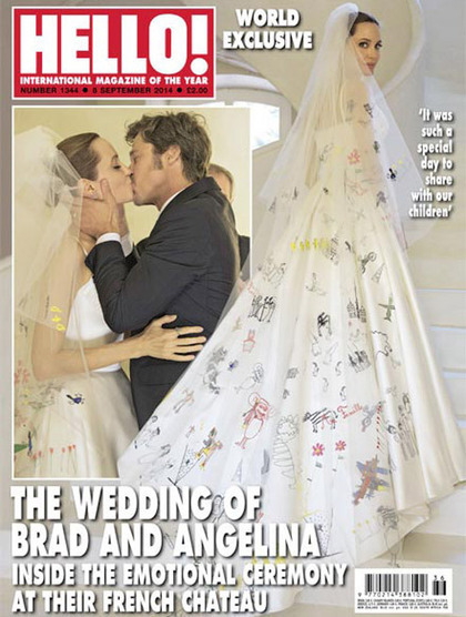 First look at Angelina Jolie's Versace wedding dress, embroidered with doodles by her kids - Telegraph | doodling | Scoop.it