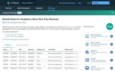 Discovering Open Data via Analytics Exchange on Bluemix | Cloud News of the day | Scoop.it