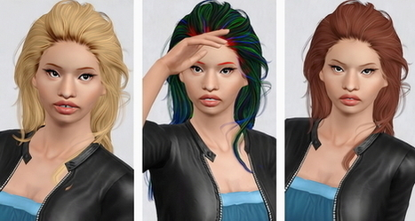 Newsea`s Jackdawson hairstyle retextured by Beaverhausen | Sims 3 Downloads | Scoop.it