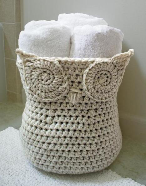 Owl Basket pattern on Craftsy.com   crochet   Scoop.it