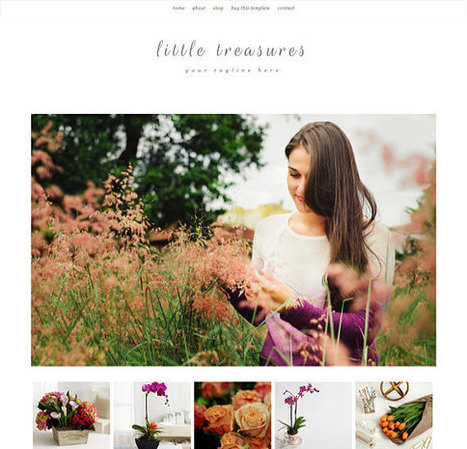 Responsive Blogger Template - Little Treasures - Blogspot Template - Premade Blogger Template - Blogger Theme - Instant Digital Download | Blogger themes | Scoop.it