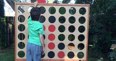 Cool dad made a giant Connect Four board and you can, too | CLOVER ENTERPRISES ''THE ENTERTAINMENT OF CHOICE'' | Scoop.it