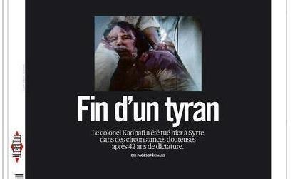 Pourquoi «Libération» a montré les images de Kadhafi | image d'information | Scoop.it